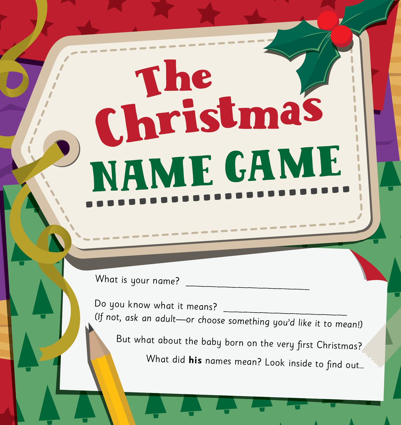 The Christmas Name Game - Child Evangelism Fellowship of ...
